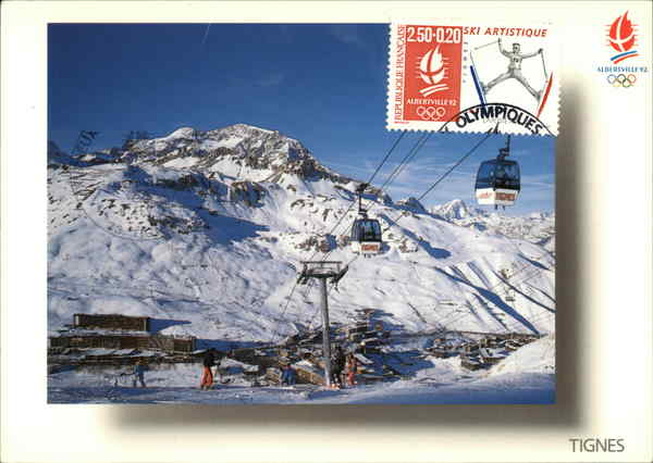 Olympic Station - Skiing Savore France Maximum Cards