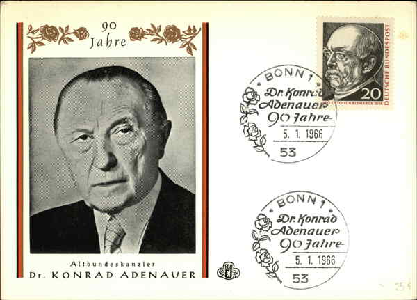 The 90th birthday of the former chancellor Dr. Konrad Adenauer Germany
