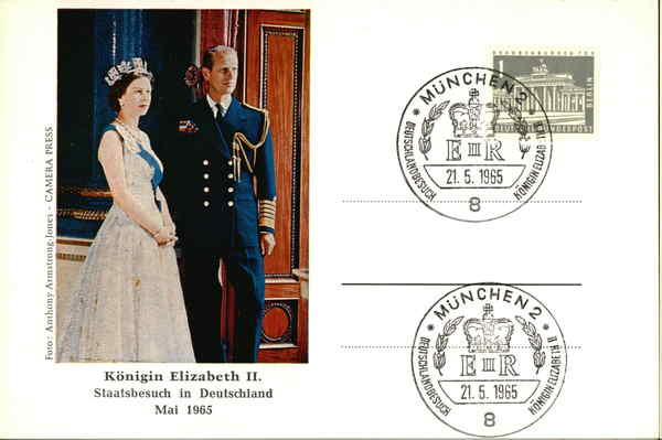 Queen Elisabeth II. The official visit in Germany May 1965