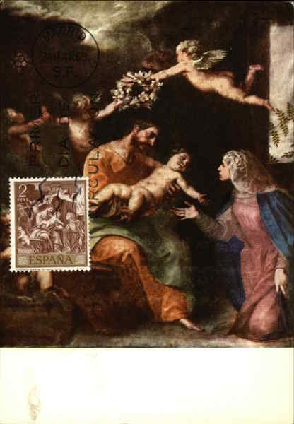 Alsonso Cano- the Holy Family Maximum Cards