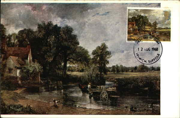 John Constable, The Hay-Wain Ipswich England Maximum Cards