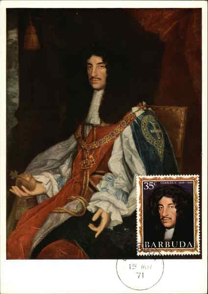 Portrait of King Charles II (1630-1685) Maximum Cards