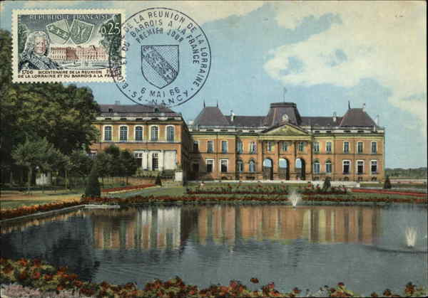 Chateau and Lake Luneville France Maximum Cards