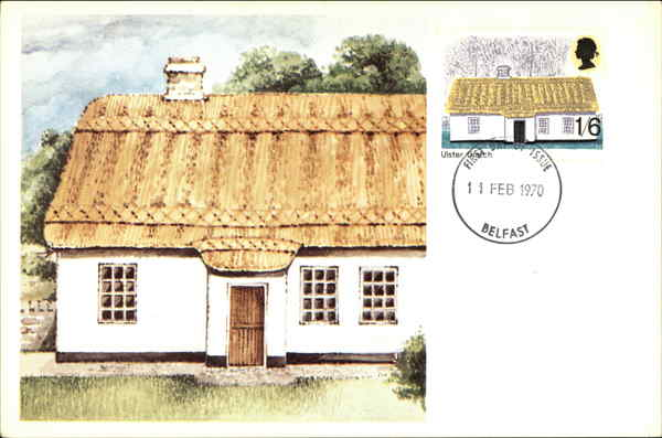 An illustration of a cottage by John Holmes Ireland
