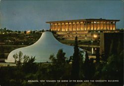 Jerusalem, view towards the Shrine of the Book and the Knesseth building