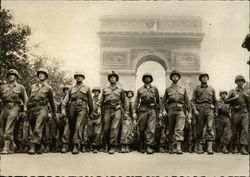 The liberation of Paris. American Infantry at the Etoile