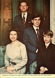 Her Majesty the Queen, H.R.H. Prince Philip with H.R.H. Prince Andrew and H.R.H. Prince Edward