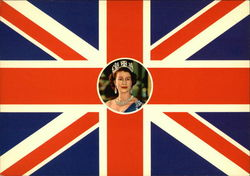 Queen Elizabeth II and Union Jack