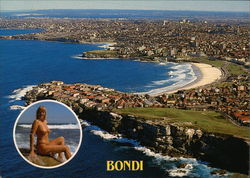 Aerial view of famous Bondi Beach