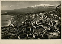 View of Town and Mount Etna