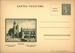 Cracow St. Mary's Church and the Cloth Hall (the Sukiennice)