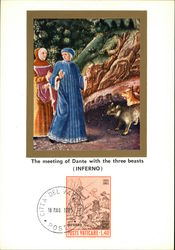 The meeting of Dante with the three beasts (Inferno)