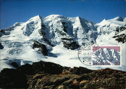 A view of the Piz Palü mountain Postcard