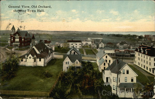 General View, Old Orchard, Showing Town Hall Old Orchard Beach Maine