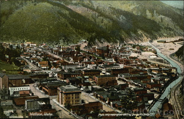Aerial View of Wallace Idaho