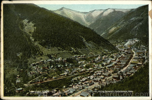 Aerial View of Town and Valley Wardner Idaho