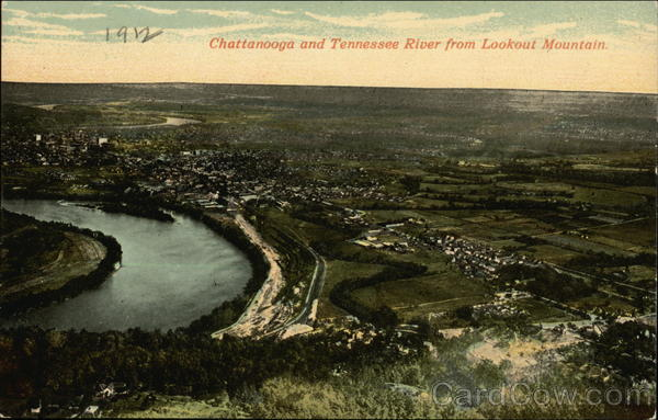 Chattanooga and Tennessee River from Lookout Mountain
