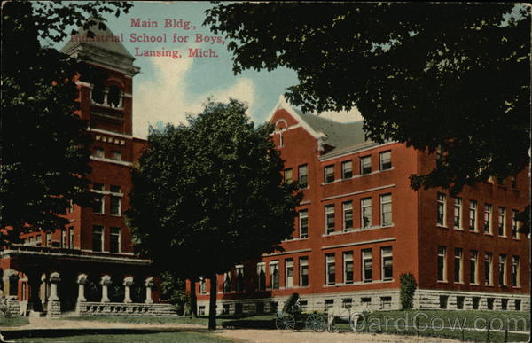 Main Building, Industrial School for Boys Lansing Michigan