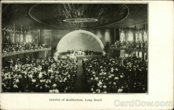 Interior of Auditorium Long Beach California