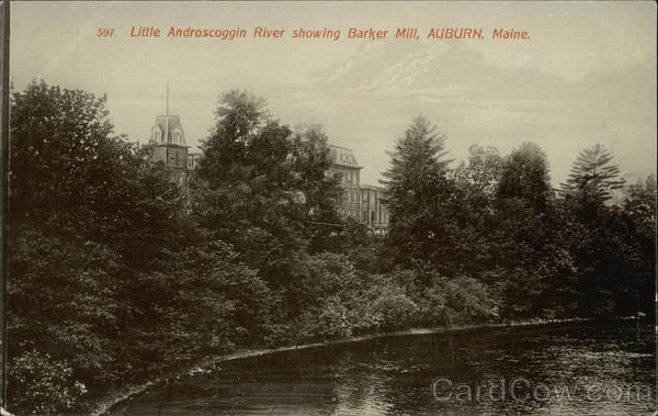 LIttle Androscoggin River showing Barker Mill Auburn Maine
