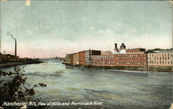 Mills and Merrimack River Manchester New Hampshire