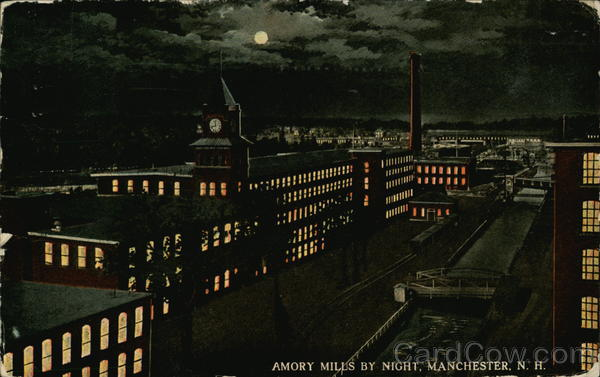 Amory Mills at Night Manchester New Hampshire