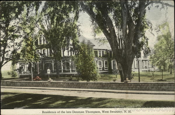 Residence of the late Denman Thompson West Swanzey New Hampshire
