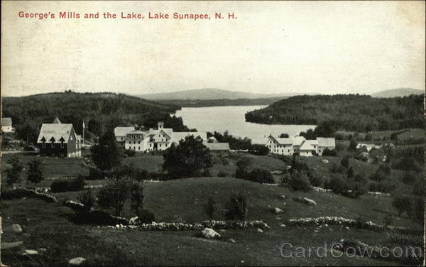 George's Mills and the Lake Lake Sunapee New Hampshire