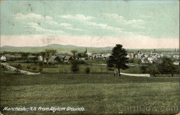 Manchester from Asylum Grounds New Hampshire