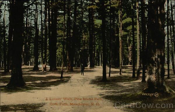 Lover's Walk, Pine Island Park, Goffs Falls Manchester New Hampshire