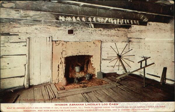 Interior Abraham Lincoln S Log Cabin Lerna Il