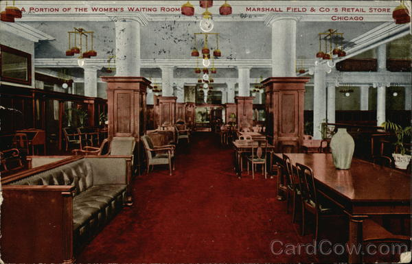 A Portion of the Women's Waiting Room, Marshall Field & Co.'s Retail Store Chicago Illinois