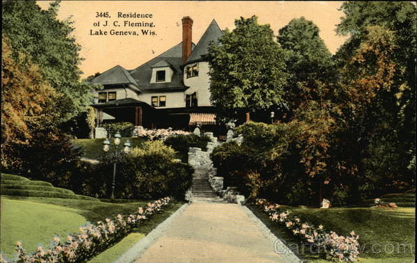 Residence of J. C. Fleming Lake Geneva Wisconsin
