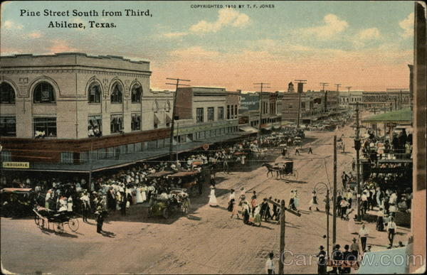 Pine Street South from Third Abilene Texas