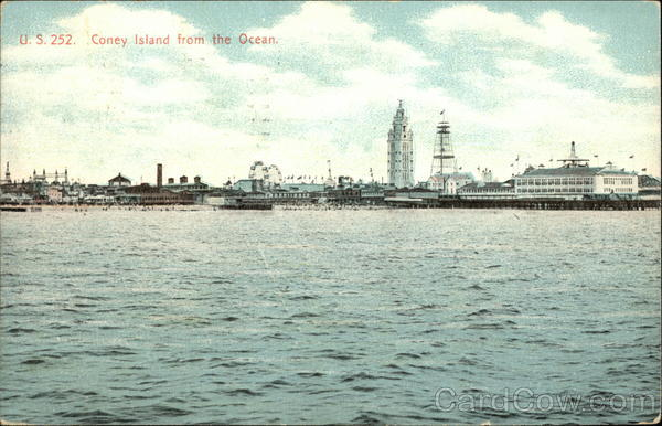 U.S. 252. Coney Island from the Ocean New York