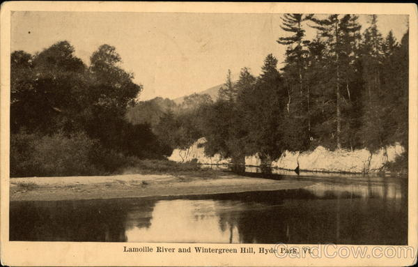 Lamoille River and Wintergreen Hill Hyde Park Vermont