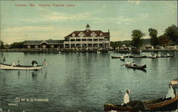 Casino, Naples Lake Postcard