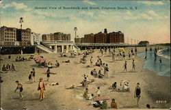 General View of Boardwalk and Beach