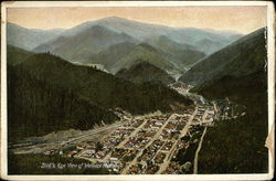 Bird's Eye View of Wallace, Idaho