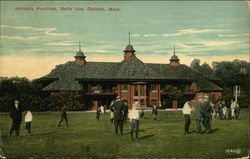 Athletic Pavilion, Belle Isle Postcard