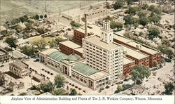 Airplane View of Administration Building and Plants of The J.R. Watkins Company