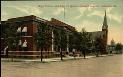 High School and Baptist Church, Central Avenue