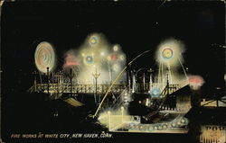 Fire Works at White City Postcard