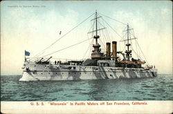 "U.S.S. ""Wisconsin"" in Pacific Waters off San Francisco, California"