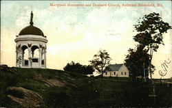 Maryland Monument and Dunkary Church, Antietam Battlefield