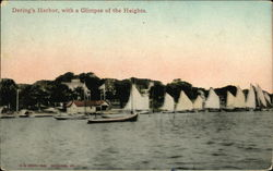 Dering's Harbor, With a Glimpse of the Heights Postcard