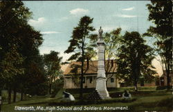 High School and Soldiers Monument