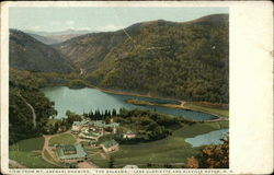 "View From Mt. Abenari Showing ""The Balsams"", Lake Gloriette and Dixville Notch"