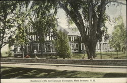 Residence of the late Denman Thompson Postcard