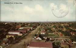 Bird's Eye View of Town Postcard